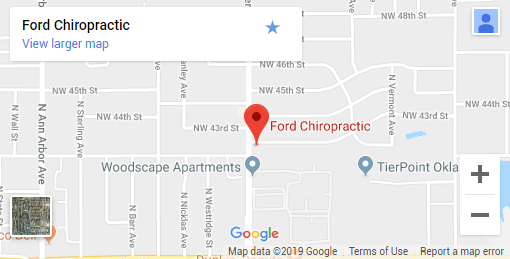 Oklahoma City OK Chiropractic Map