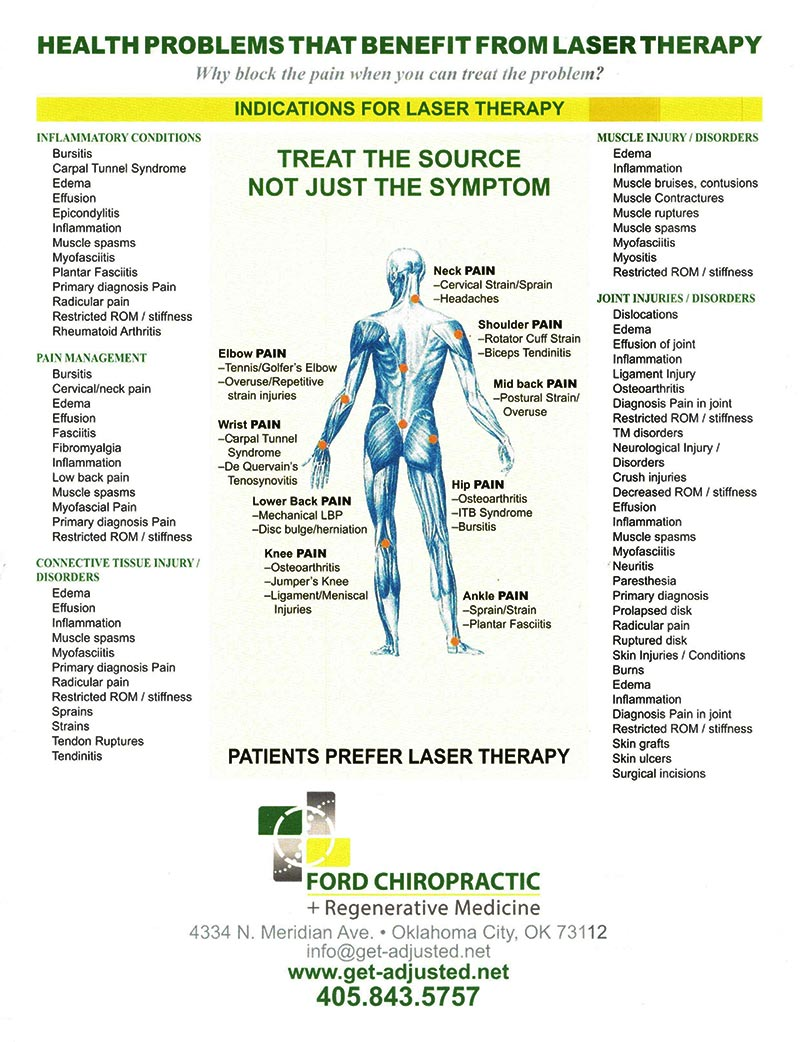 Chiropractic Oklahoma City OK Laser Therapy Treatment